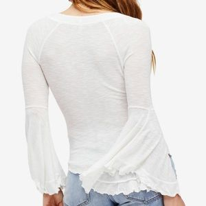 Free People Tops - Free people so dramatic white bell sleeve top